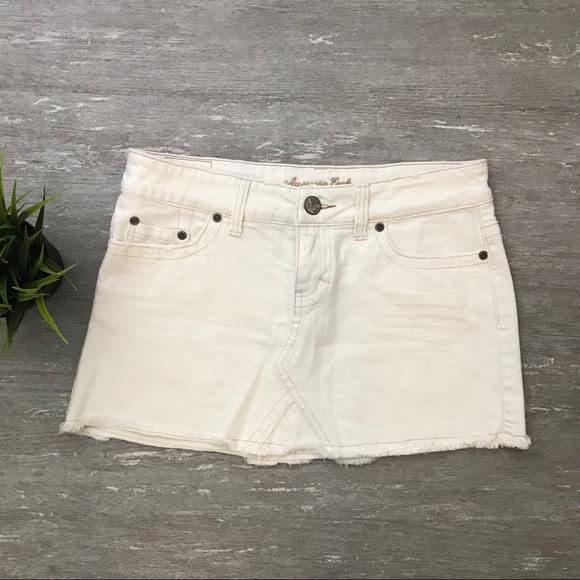 a77215f52 American Eagle Outfitters Dresses & Skirts - American Eagle White Denim  Mini Skirt